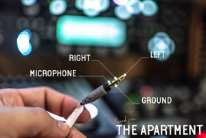 Sounds from the apartment cables TRRS male