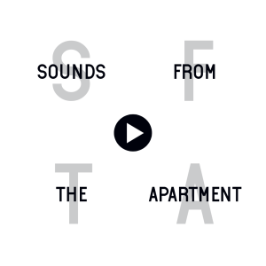 Sounds From The Apartment White Logo