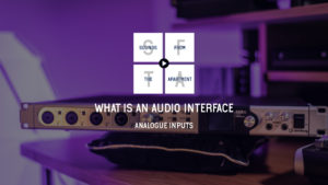 What is an audio interface analogue inputs sounds from the apartment