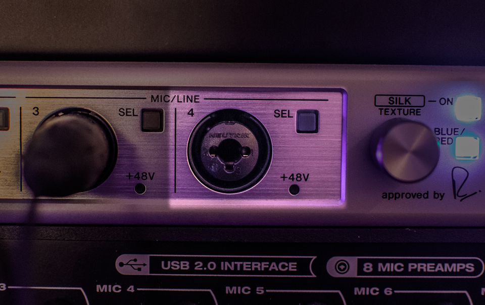 The Combo Input on the Steinberg AXR4T Audio Interface