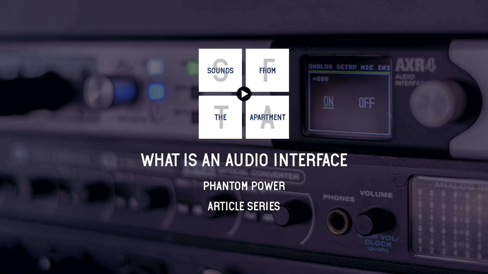 What is an audio interface phantom power sounds from the apartment